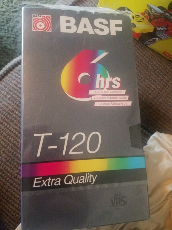 BASF Special 3-Pack T-120 Extra Quality Blank VHS Videocassette Tapes one extra