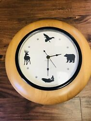 Hunter Hunting Wall Clock North Creek Cabin Company Deer Bear Bird Fish Man Gift