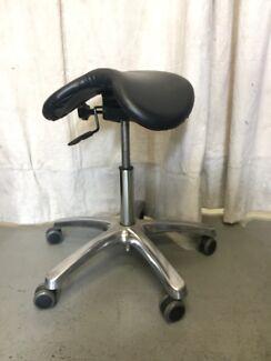 work ex black saddle chair