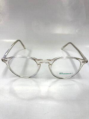 Woodstock Eyeglasses V270 Retro Crystal Frames Plastic Eyeglass Round Made Italy
