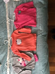 Girls 2 piece long sleeve sets - 12 month size