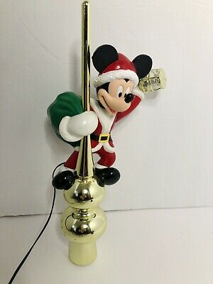 Vintage 1995 Disney Mr Christmas Mickey Mouse Lighted Lantern Tree Topper AS IS