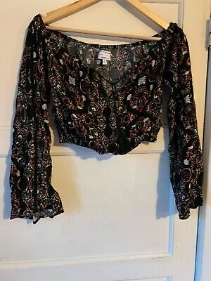 kendall kylie Small Crop Gypsy Top