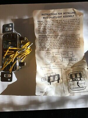General Electric Ge Pilot Light Assembly Ra-12 For Rms-4a Master Switch