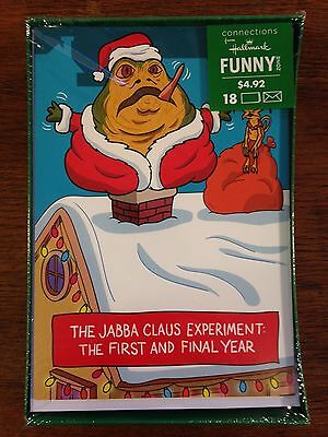 New Sealed Hallmark Star Wars Christmas Cards Set (The Jabba Claus Experiment)