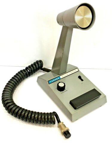 Vintage Turner Microphone Model 3 Plus Three Desk Microphone Ham