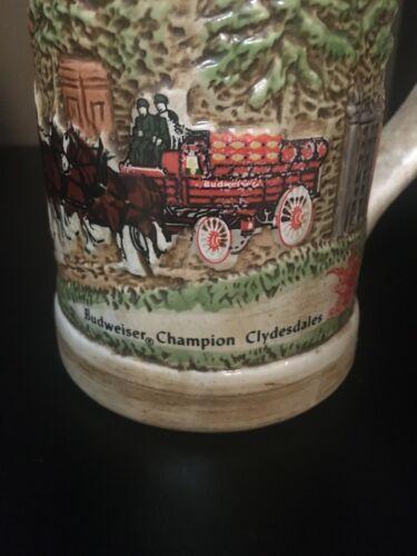 Budweiser Champion Clydesdale Stein Mug Ceramarte