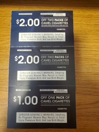 Camel Coupons, Expire 5/31/21 - $3.00