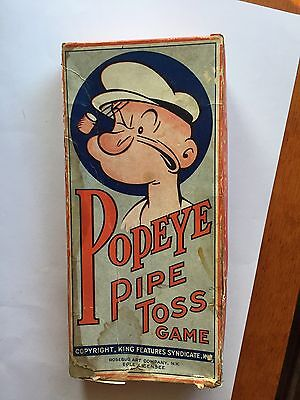 1935 Popeye Pipe Toss Game King Features W/ Box