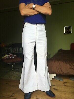 Kult! Weiße orig 70er LEVIS Jeans, Damen Schlag Marlene Hose flare Mottoparty M? Hose Flare Jeans