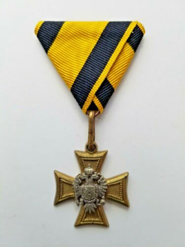 Austria Empire Long Service Decoration Officers Cross for 25 Years 2nd issue.