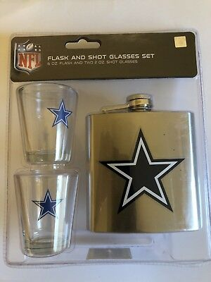 Cowboys Shot Glass (NFL DALLAS COWBOYS FLASK AND SHOT GLASS)
