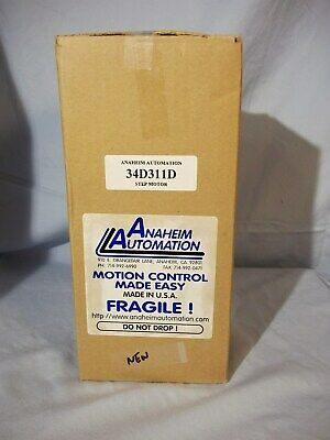 34d311d New In Box Anaheim Automation Stepper Motor Dual .375 Shaft
