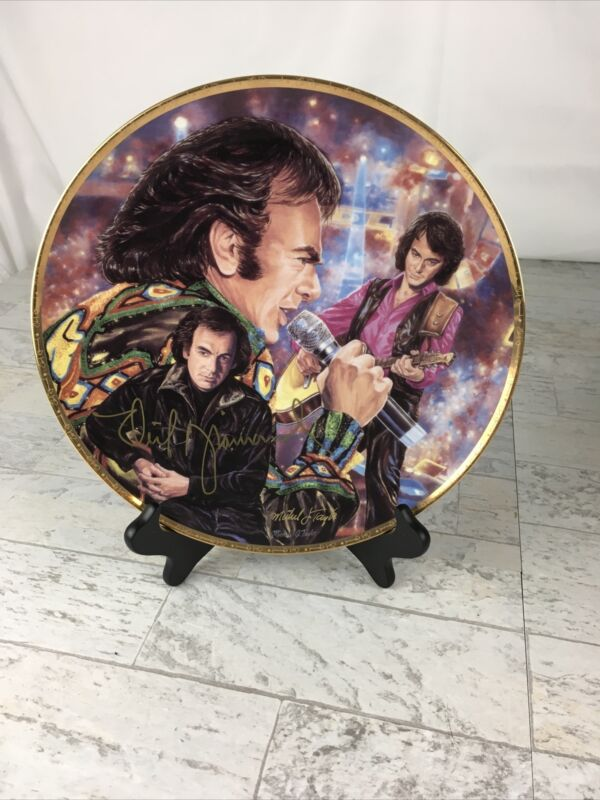 Neil Diamond Autographed Limited Edition ARTIST PROOF Gartlan Plate Real Sig