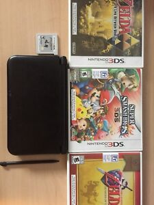 Nintendo 3DS XL Black with games (Great Condition)