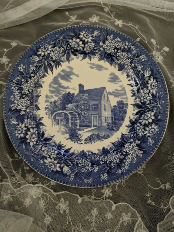 Wedgwood Dinner Plate Daughters of the American Revolution Scribner House  Rare