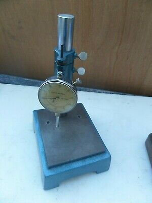 Dial Indicator W Metal Comparator Stand Industrial Machinist Ray H. Morris Japan