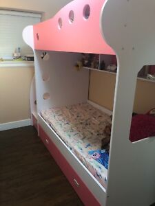 mattress  and bunk bed