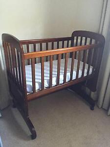 Large Wooden Rocking Cradle + Mattress (Childcare Brand) Seaforth Manly Area Preview