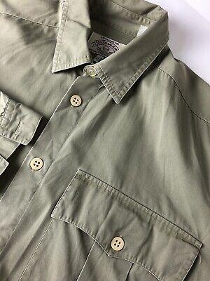 Vintage Giorgio Armani Jeans Men Shirt Military Green Small S / Medium M