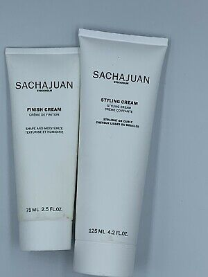 Sachajuan Styling Cream 4.2 fl oz & Finish Cream 2.5 fl oz - New sealed tubes