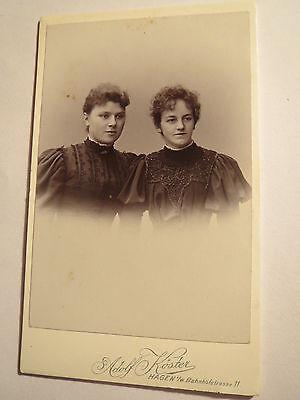 Hagen i. W. - 2 Frauen - Portrait / CDV