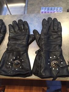 Motorcycle riding gloves and vest