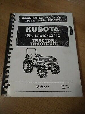 Kubota L3010 L3410 Tractors Illustrated Parts Catalog Manual