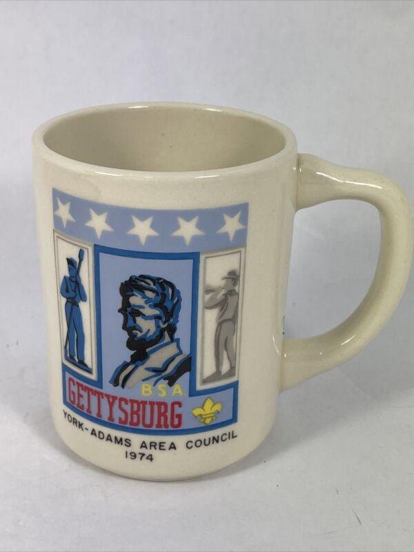 Vintage BSA Boy Scouts America Gettysburg York-Adams Area Council 1974 Mug Cup