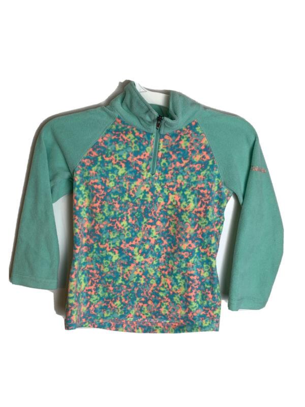 Columbia Girls Size XXS (4-6) 1/4 Zip mint pullover fleece