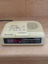 Vintage Sony ICF-C25 Off White Dream Machine Alarm Clock AM/FM Radio - Working!