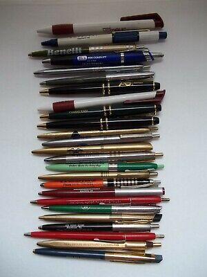 25 Vintage Ball Point Ink Pens Advertising Promotional Marketing Pen Lot