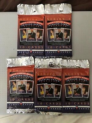 Super Country Music Series 1 Trading Cards 5 Pack Lot 10 Cards Per Pack Tenny