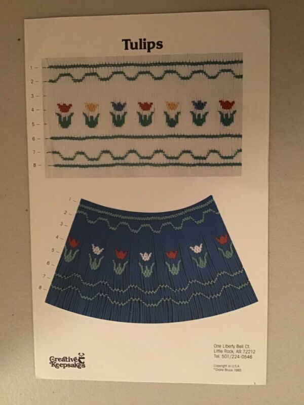 "Smocking Plate Pattern; ""Tulips""; Creative Keepsakes"
