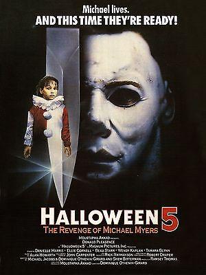 Halloween 5: The Revenge of Michael Myers 1989 Slasher/Horror Movie POSTER - Halloween The Revenge Of Michael Myers