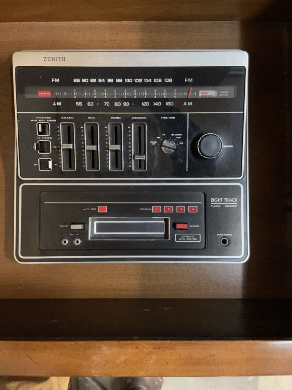 Vintage Zenith Stereo Radio 8 Track Working Am Fm With Power Supply Lr917m