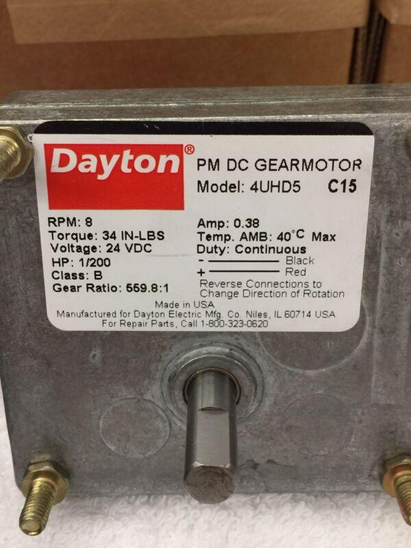 """DAYTON GEAR MOTOR 5/16"""" SHAFT 9-24 VDC BRAND NEW 3-9 RPM REVERSIBLE REDUCER ! !"""