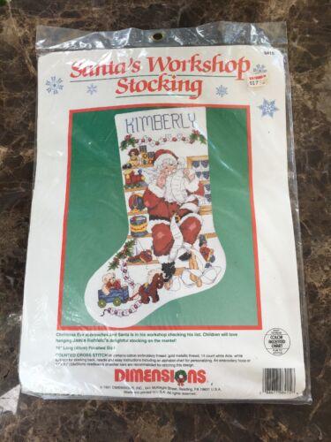 Dimensions Santa's Workshop Christmas Cross Stitch Stocking