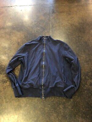 Malo Blue Thick Cotton Full Zip Sweater XL