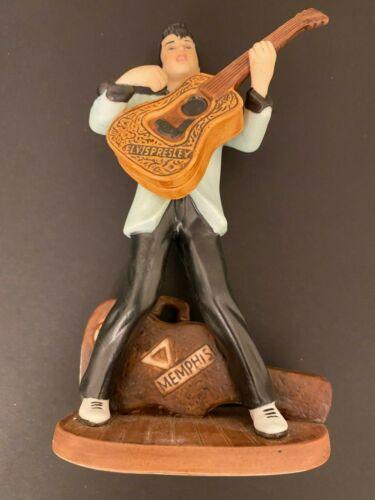 "AVON 1987 ELVIS PRESLEY Porcelain Figurine 7"" tall w/Guitar, Case & Original Box"