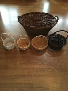 Panier en osier / wicker baskets