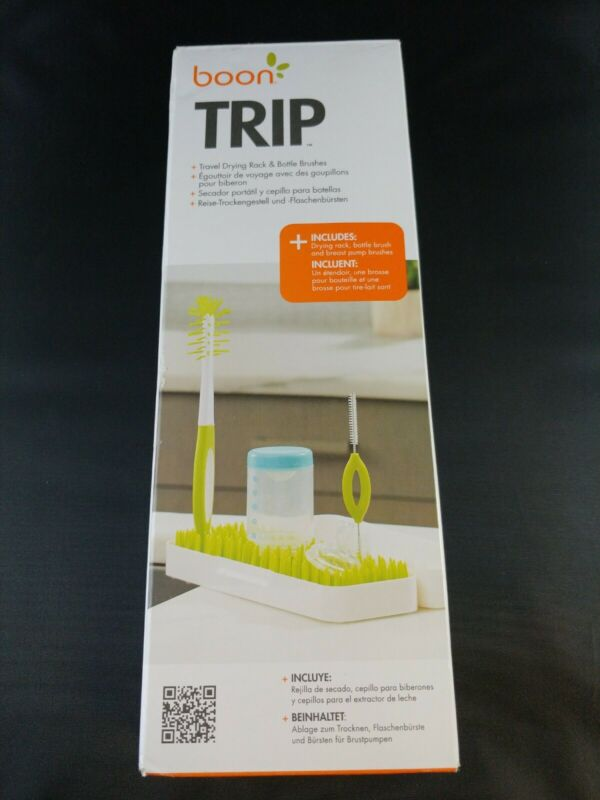 Boon Trip Travel Drying Rack, Green, White