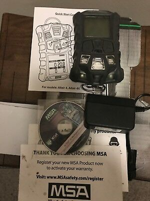 Msa 10107602 Altair  4X Multi Gas Detector W Charcoal Case   Lel  O2  Co  H2s