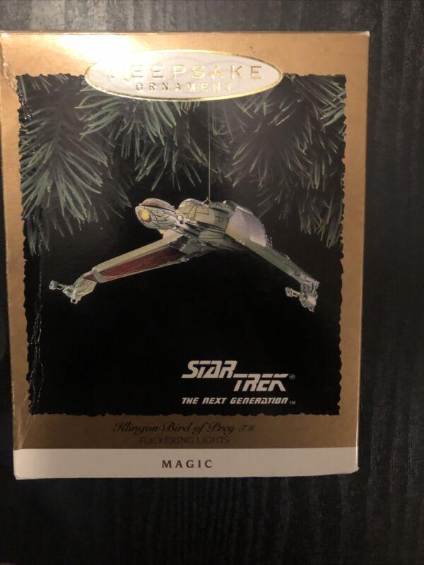 1994 Hallmark Keepsake Magic Ornament Klingon Bird Of Prey Star Trek Next Gen