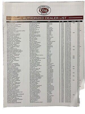 Case XX Knife Authorized Dealer Book 2000's