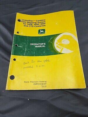 John Deere Greenstar Combine Yield Mapping Operators Manual 9400 9500 9600