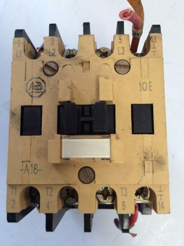 USED ALLEN BRADLEY 100-A18ND3 CONTACTOR 120V COIL A-B 10E  A18  CS