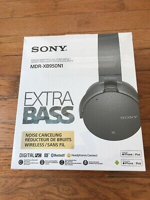 NEW. Sony XB950N1 Extra Bass Wireless Noise Cancelling Over-the-Ear Headphones.
