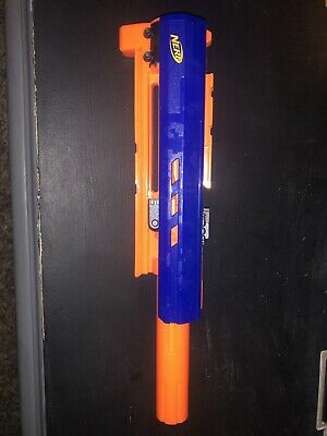 Nerf Long Strike CS-6 Barrel Tactical Attachment Sniper Blue/orange Used