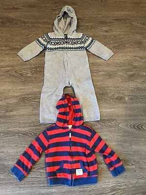 Light Up Outfits (Baby Gap Boys Hooded Light Weight Zip Up Hoodie And One Piece Sweater)